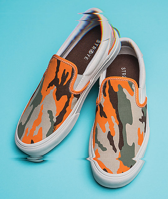 STRAYE Ventura Safety Camo Slip-On Skate Shoes