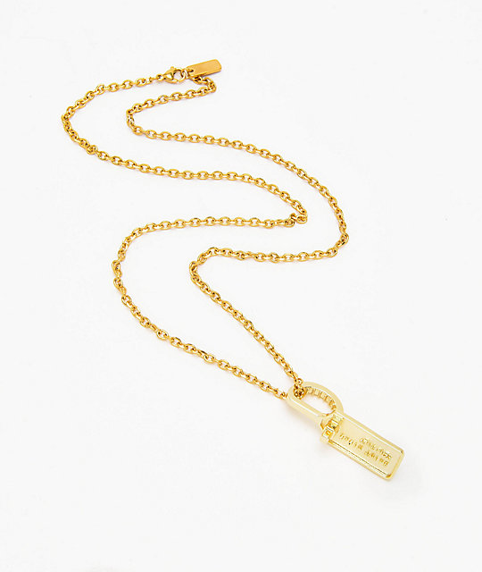 Saint Midas Zip Tie Pendant Yellow Gold 22