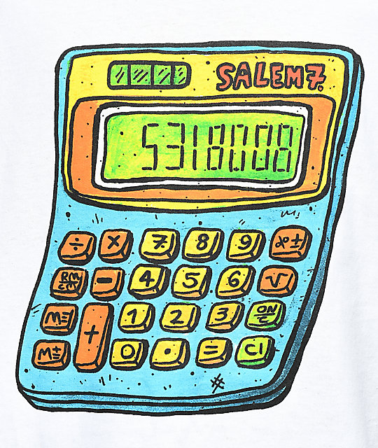 Salem7 Calculator camiseta blanca