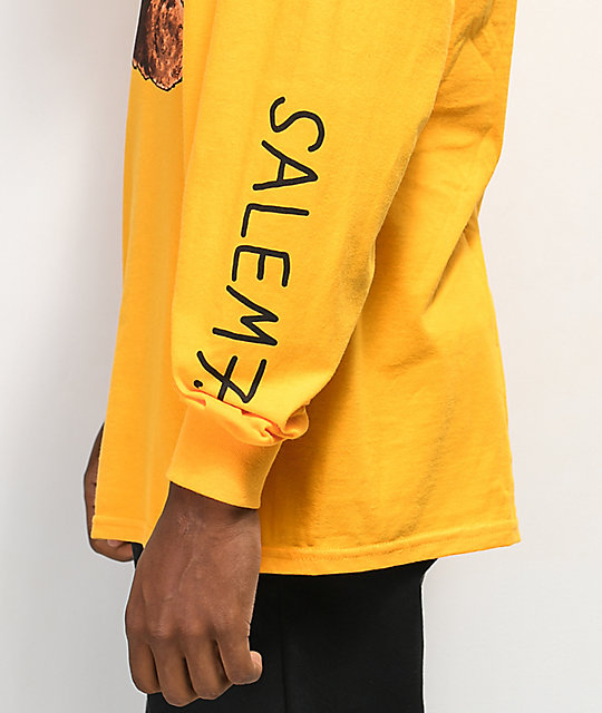 Salem7 Crappy Valentine Long Sleeve Yellow T-Shirt