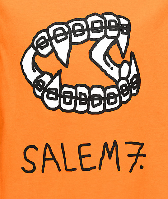 Salem7 Fangs Orange T-Shirt