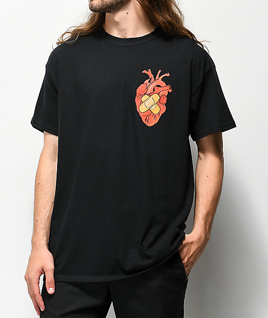 Salem7 Heart camiseta negra