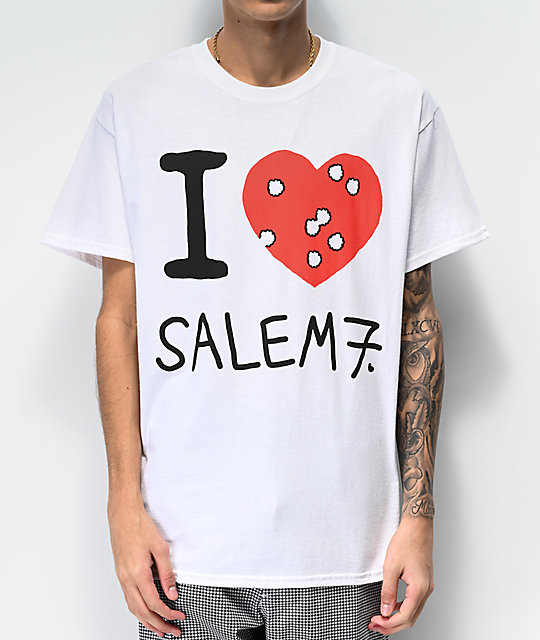 Salem7 I Hate Salem7 camiseta blanca