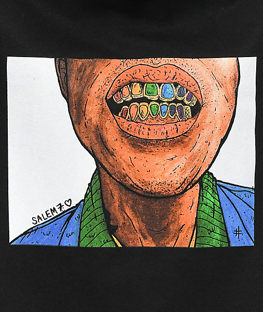 Salem7 Rainbow Grillz Black T-Shirt