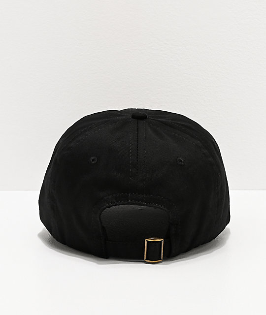 Salem7 Teeth Black Strapback Hat