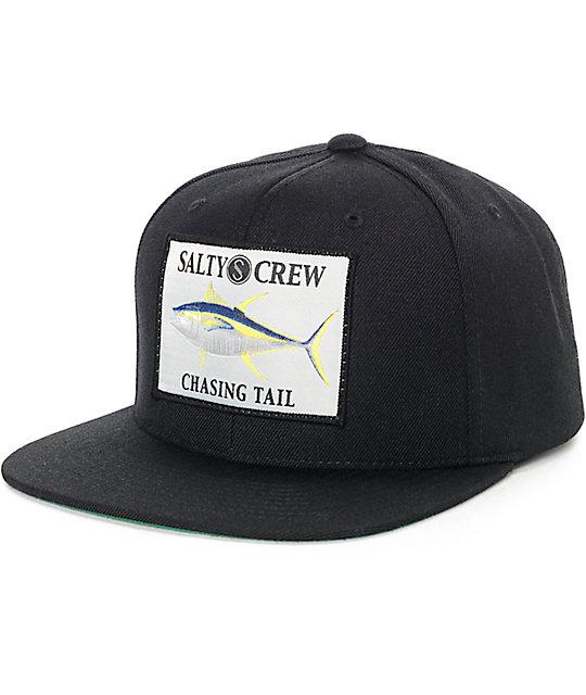 newest 4818a e5bc8 Salty Crew Ahi Black Snapback   Zumiez
