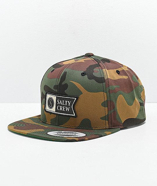 huge discount c597e 46b01 Salty Crew Alpha Stamped Camo Snapback Hat   Zumiez