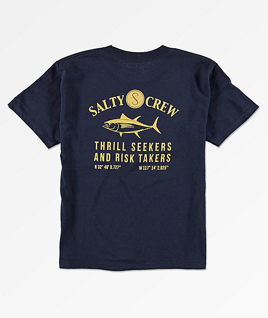 Salty Crew Boys Markets Navy T-Shirt