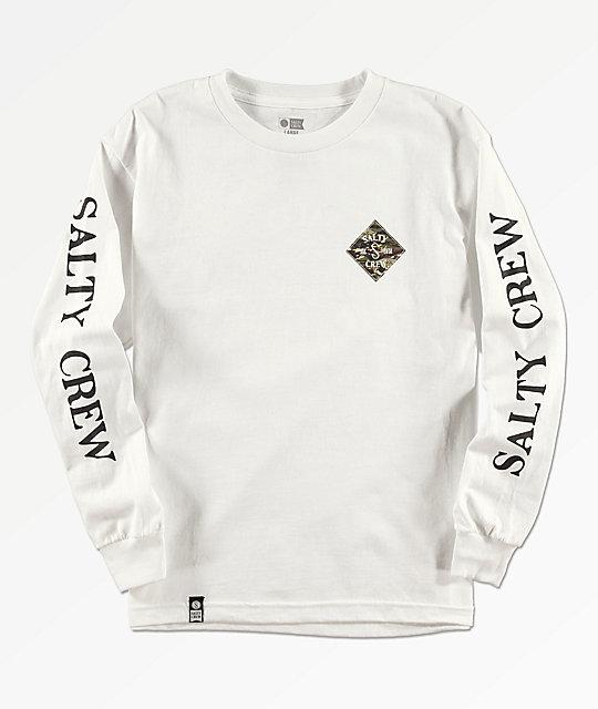 05bb7211 Salty Crew Boys Tippet Cover White Long Sleeve T-Shirt | Zumiez