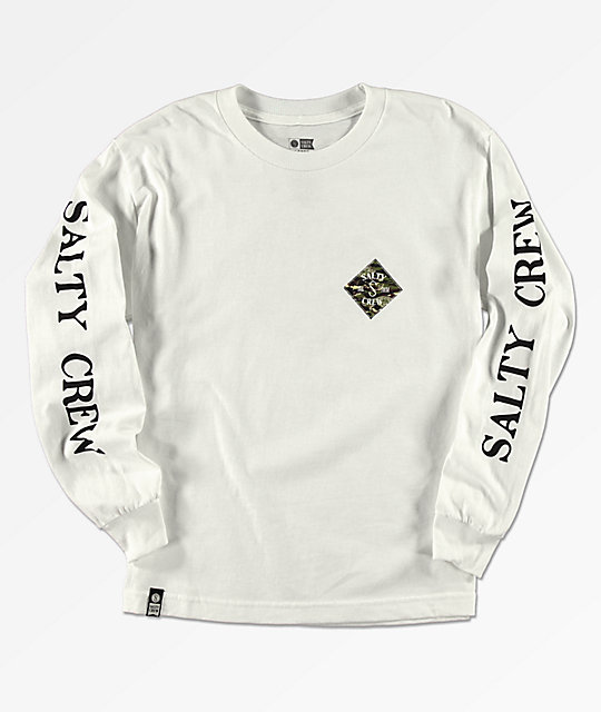 Salty Crew Boys Tippet White Long Sleeve T-Shirt