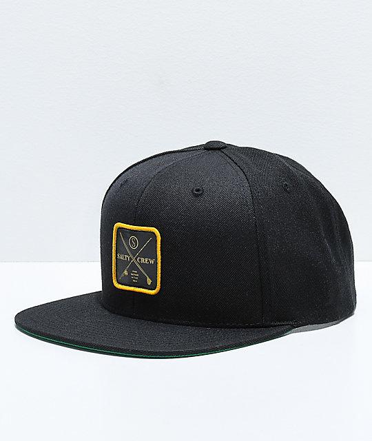 444e8e102709a Salty Crew Chart Black Snapback Hat