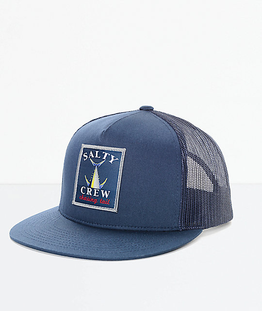 Salty Crew Chasing Tail Navy Trucker Hat