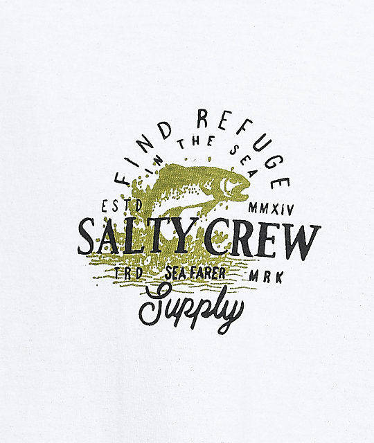 Salty Crew Fly Supply White Long Sleeve T-Shirt