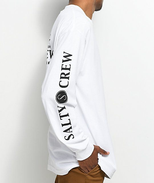 Salty Crew Fly Supply camiseta blanca de manga larga