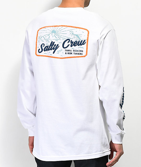 Salty Crew Frenzy White Long Sleeve T-Shirt