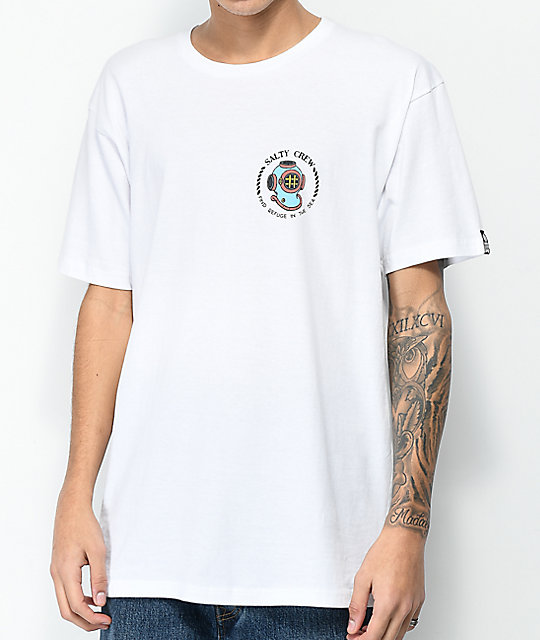 Salty Crew Going Deep White T-Shirt