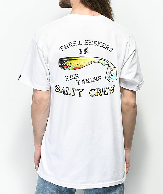 Salty Crew Hopper Bomber White T-Shirt