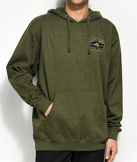 Salty Crew Leeward Heather Army Hoodie