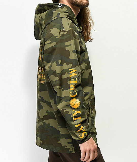 Salty Crew Market Camo Hooded Jacket