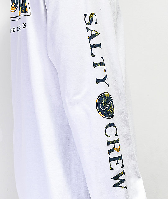 White Salty Crew Navigator T-Shirt New