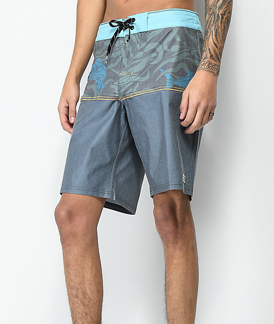 Salty Crew Off The Beach shorts de baño en gris y azul