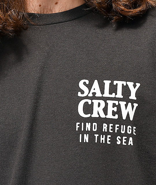 Salty Crew Poppin Off Black T-Shirt
