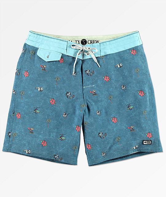 9cb10d486b Salty Crew Rocks & Docks Blue Print Board Shorts | Zumiez