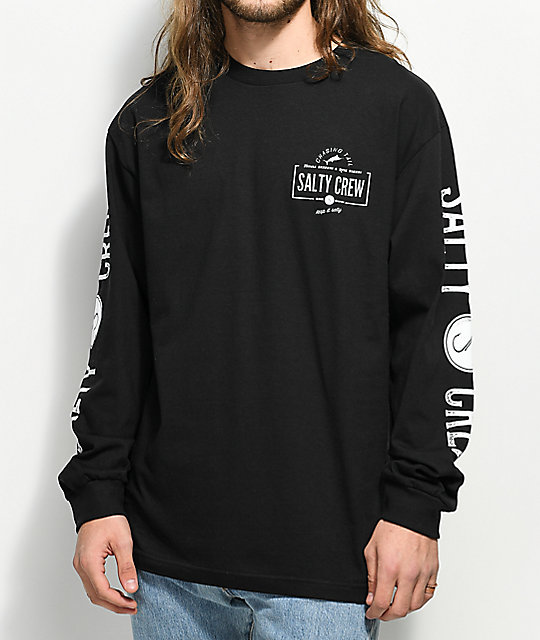 Salty Crew Seeker Black & White Long Sleeve T-Shirt