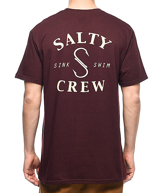 Salty Crew Shook camiseta en color vino