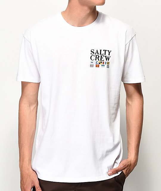 Salty Crew Signals White T-Shirt