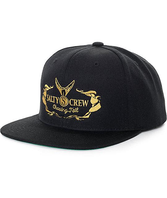official photos e5526 f8579 Salty Crew Tail High Black Snapback Hat   Zumiez