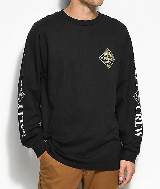 e4f7d9ac Salty Crew Tippet Black & Camo Long Sleeve T-Shirt | Zumiez