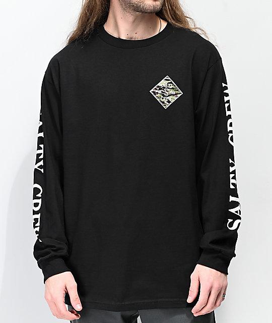 f1e13c7d Salty Crew Tippet Black Long Sleeve T-Shirt | Zumiez