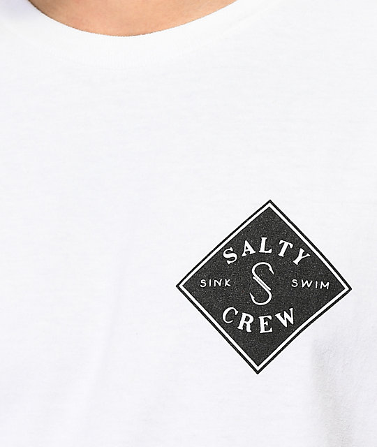 Salty Crew Tippet Two Tone White T-Shirt