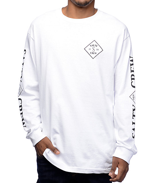 Salty Crew Tippet White Long Sleeve T Shirt
