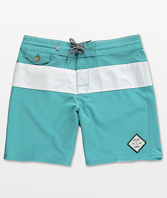 Salty Crew Too Classic Sea Foam board shorts en azul y blanco
