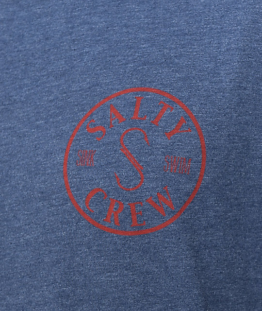 Salty Crew Topwater Navy & Red T-Shirt