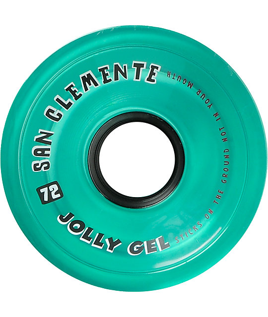 San Clemente Jolly Gel 72mm Ocean Green Longboard Wheels