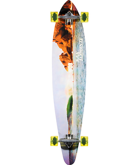 "San Clemente Perfecto 46""  Pin Tail Longboard Complete"