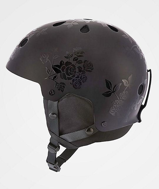 Sandbox Legend Black Floral Snowboard Helmet