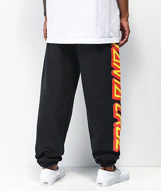 Santa Cruz Big Strip Black Sweatpants