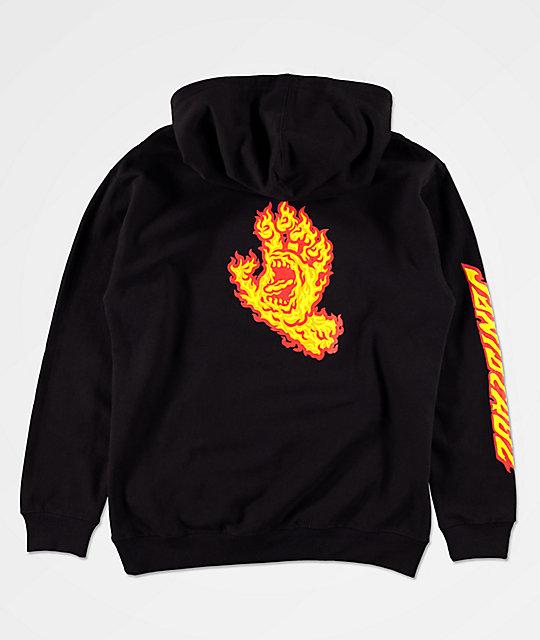 Santa Cruz Mens Flame Hand Hoodie
