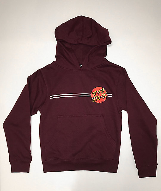 Santa Cruz Boys Japan Dot Burgundy Hoodie