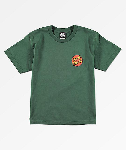 Santa Cruz Boys Japan Dot Green T Shirt Zumiez