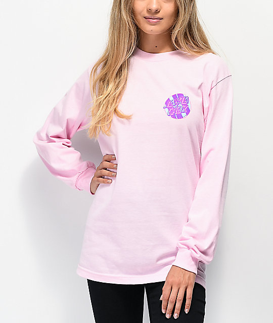 Santa Cruz Brush Dot Pink Long Sleeve T-Shirt