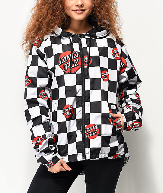 d0ab0c376b Santa Cruz Checker Dot Windbreaker Jacket | Zumiez