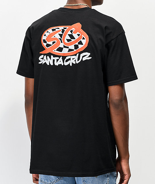 Santa Cruz Checker Pro Series Black T-Shirt