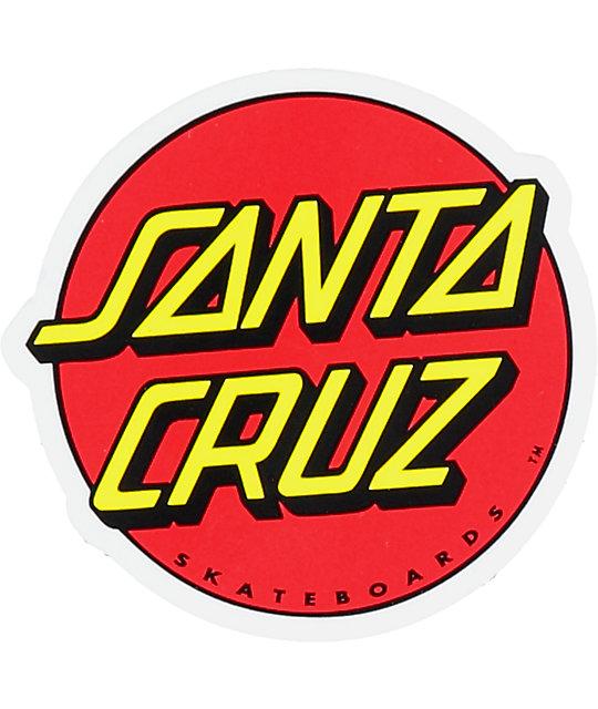 Santa Cruz Classic Dot Sticker Zumiez