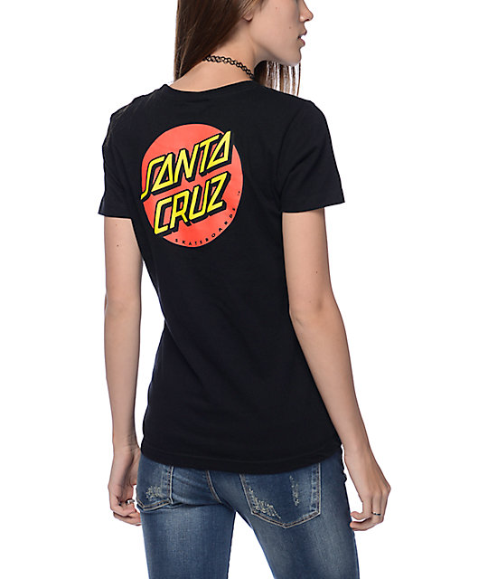 Santa Cruz Classic Dot Black T-Shirt