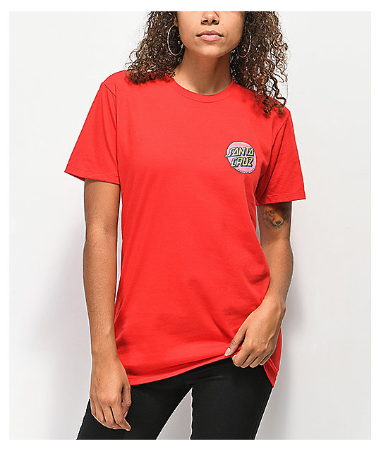 Santa Cruz Coiled Dot camiseta roja